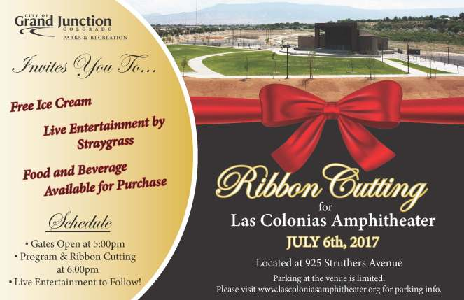 Las Colonias Amphitheater Grand Opening Invite
