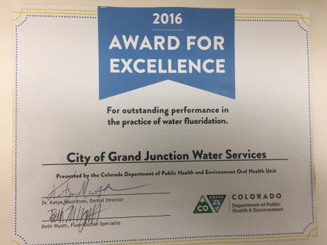 Fluoride Certificate Photo