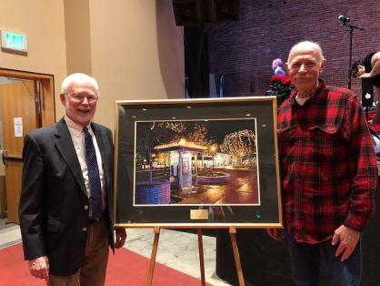 John Hopkins with artist Jim Hutton