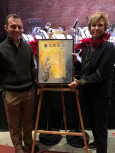 Lancer Livermont with artist Joan Anderson